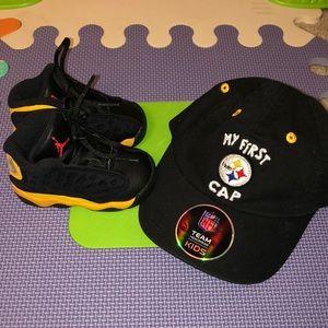 Jordan 13 Retro and Pittsburgh Infant Hat